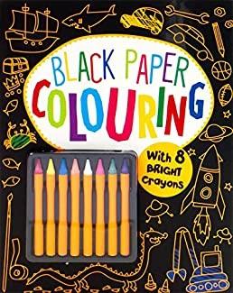 Black Paper Coloring (Paperback)
