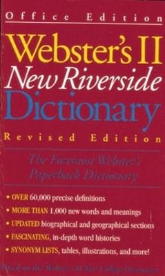 Webster's II New Riverside Dictionary (Paperback)